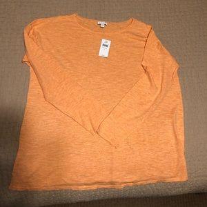 J Jill Lightweight Cotton Clementine sweater